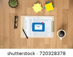 mail communication connection... | Shutterstock . vector #720328378
