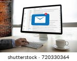 mail communication connection... | Shutterstock . vector #720330364