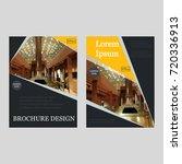 business brochure covers set.... | Shutterstock .eps vector #720336913