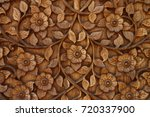 Flower Wood Carving Buddhism...