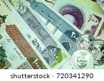 close up iranian banknote and... | Shutterstock . vector #720341290
