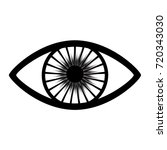 eye icon on white background | Shutterstock . vector #720343030