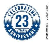 23 years anniversary logo.... | Shutterstock .eps vector #720343504