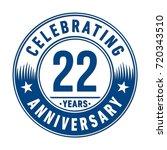 22 years anniversary logo.... | Shutterstock .eps vector #720343510