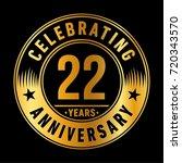 22 years anniversary logo.... | Shutterstock .eps vector #720343570