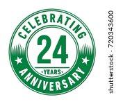 24 years anniversary logo.... | Shutterstock .eps vector #720343600