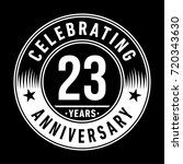 23 years anniversary logo.... | Shutterstock .eps vector #720343630