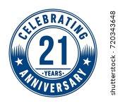 21 years anniversary logo.... | Shutterstock .eps vector #720343648