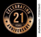 21 years anniversary logo.... | Shutterstock .eps vector #720343660