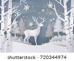 illustration of winter season... | Shutterstock .eps vector #720344974