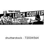 lunch counter   retro ad art... | Shutterstock .eps vector #72034564