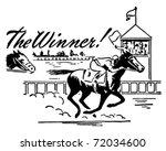 the winner   retro ad art banner | Shutterstock .eps vector #72034600