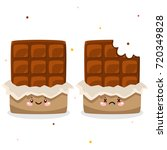 cute chocolates  whole and... | Shutterstock .eps vector #720349828