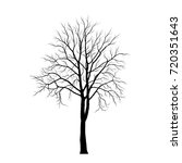 tree silhouette on white... | Shutterstock .eps vector #720351643