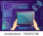 vector tablet background with... | Shutterstock .eps vector #720351748