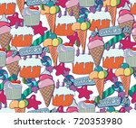 cute brightly holiday seamless... | Shutterstock .eps vector #720353980