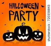 halloween card   halloween... | Shutterstock . vector #720358843