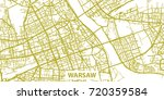 detailed vector map of warsaw... | Shutterstock .eps vector #720359584