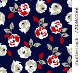 Floral Pattern On Navy...