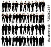 collection of silhouettes of... | Shutterstock . vector #720362689
