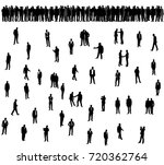 silhouette of people | Shutterstock . vector #720362764