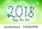 2018 happy new year background. ... | Shutterstock . vector #720362998