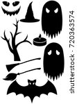 halloween party isolated black... | Shutterstock .eps vector #720363574