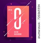 cool abstract numbers poster... | Shutterstock .eps vector #720365554