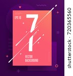 cool abstract numbers poster... | Shutterstock .eps vector #720365560