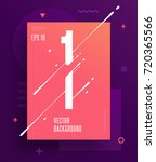 cool abstract numbers poster... | Shutterstock .eps vector #720365566
