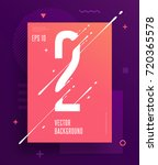 cool abstract numbers poster... | Shutterstock .eps vector #720365578
