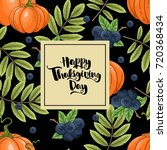 happy thanksgiving greeting card | Shutterstock .eps vector #720368434