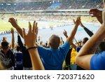 football  soccer fans support... | Shutterstock . vector #720371620