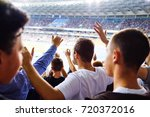 football  soccer fans support... | Shutterstock . vector #720372016