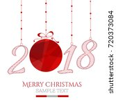 happy new year card. the year... | Shutterstock .eps vector #720373084