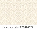 seamless floral ornament on... | Shutterstock .eps vector #720374824