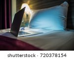 night time internet browsing.... | Shutterstock . vector #720378154