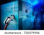 charging pile | Shutterstock . vector #720379546