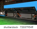 new energy electric motor coach ... | Shutterstock . vector #720379549