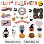 halloween design elements.... | Shutterstock .eps vector #720380788