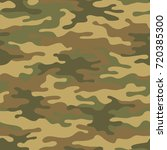 seamless camouflage pattern.... | Shutterstock .eps vector #720385300
