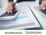 accounting calculating... | Shutterstock . vector #720392590