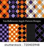 halloween argyle seamless... | Shutterstock .eps vector #720403948
