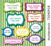 vector frames text box set   Shutterstock .eps vector #72040918