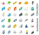 reality icons set. isometric... | Shutterstock .eps vector #720413014