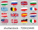 flags with capitals  italy rome ... | Shutterstock .eps vector #720413440