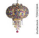 vintage chandelier isolated on...   Shutterstock . vector #720413644