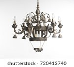vintage chandelier isolated on...   Shutterstock . vector #720413740