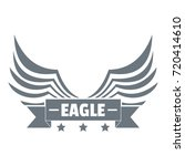 eagle wing logo. simple... | Shutterstock .eps vector #720414610