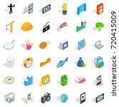 feature icons set. isometric... | Shutterstock .eps vector #720415009